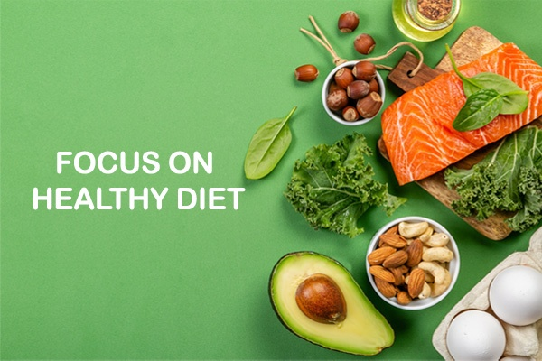 focus on healthy diet
